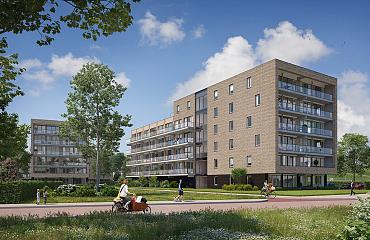Barendrecht, Stationstuin: start verhuur appartementen De Coupé